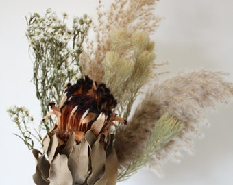 Dried flower bunch, Protea, Ixodia, Phylica, Pampas grass