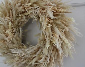 Dried flower wreath - Ivory - Indoor wreath