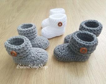 353e9104f Baby Booties Baby Shoes Crochet Boys Girls Newborn Socks Baby Shower Gift  for baby