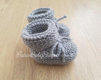 e886b8e56 Knitted Baby Booties, Baby Shoes, Boys, Girls, Newborn Socks, Baby Shower,  Gift for Baby