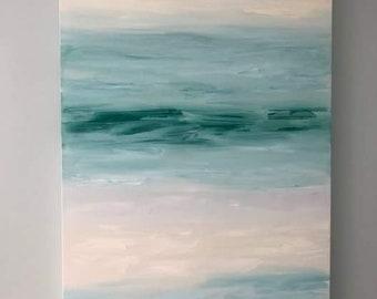 "Abstract art - oil painting - ""Scene"""