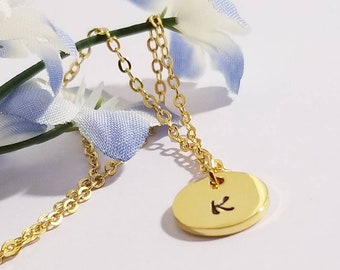 Gold Monogram Necklace | Monogram Jewelry | Gold Necklace | Initial Jewelry | Letter Necklace | Minimalist Jewelry