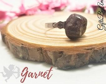 Garnet Stone Ring | Real Stone Birthstone Ring | January Birthstone | Garnet Ring | Birthday Ring