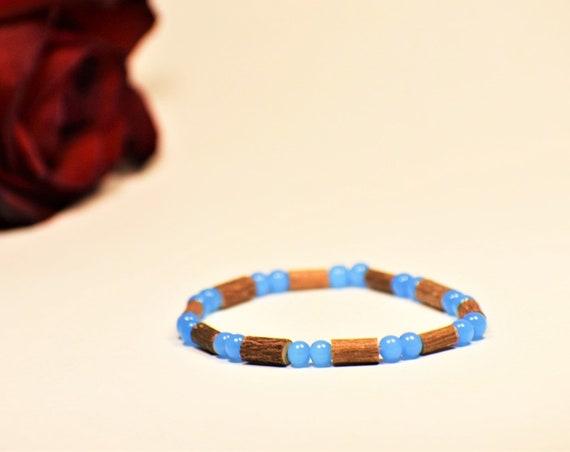 Pure Hazelwood Beaded Stretch Bracelet   Healing Bracelet