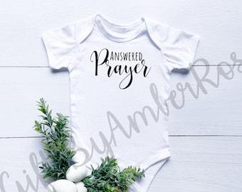 Answered Prayer Baby Bodysuit | Unisex Baby Gifts | Bodysuit | Gender Neutral | New Baby Gift