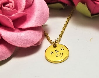 Personalized Initial Necklace | Couples Initials Necklace | Letter Necklace | Valentines Day Jewelry | Valentines GIfts |