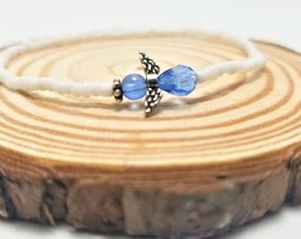 Blue and White Angel Bracelet