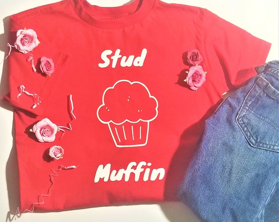 Stud Muffin Tshirt | Funny Shirts For Kids | Funny Shirts For Adults | Stud Muffin | Valentines Shirts
