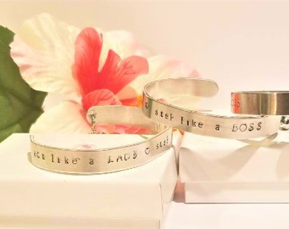 Personalized Quote Bangles with Swarovski Crystal Charm | Personalized Sayings | Simple Bangles | Custom Bracelets | Personalized Bracelets