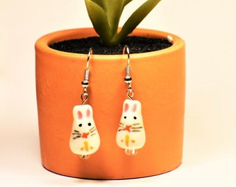 Bunny Earrings | Cute Animal Earrings | Rabbit Earrings | Bunny Jewelry | Rabbit Jewelry