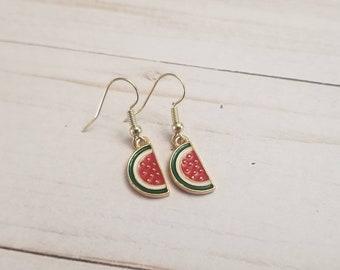 Watermelon Fruit Earrings | Summer Jewelry | Summer Accessories | Watermelon Accessories | Watermelon Jewelry | Fruit Accessories