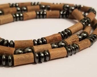 Pure Hazelwood Mens Stretch Bracelet Set Of 3 | Mens Bracelets | Mens Jewelry | Hazelwood Jewelry | Eczema Relief | Real Hazelwood