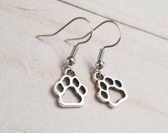Simple Paw Print Earrings | Dog Earrings | Pet Earrings | Dog Lover | Animal Lover | Paw Print Jewelry | Dog Accessories
