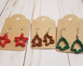 Christmas Cookie Cutter Earrings | Holiday Accessories | Christmas Baking | Christmas Jewelry | Holiday Earrings | Festive Jewelry