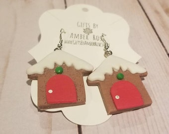 Gingerbread House Earrings | Gingerbread Jewelry | Holiday Accessories | Gingerbread Accessories | Holiday Jewelry | Christmas Accessories