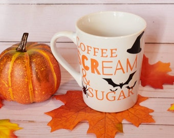 Coffee Scream & Sugar Halloween Mug | Coffee Mug | Fall Mug | Seasonal Mugs | Cute Halloween Drinkware | Fall Drinkware