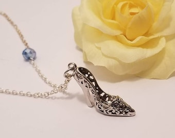 Cinderella Shoe Necklace | Cinderella Jewelry | Glass Slipper | Disney Jewelry