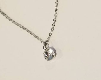 Simple Swarovski Crystal Necklace | Swarovski Jewelry | Dainty Jewelry | Simple Necklace | Minimalist Jewelry
