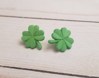 Light Green Shamrock Earrings | St Patrick's Day Earrings | Irish Pride | St Patty's Day | Shamrock Jewelry | Stud Earrings | Post Earring