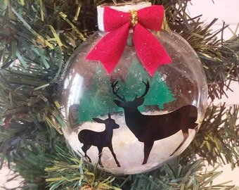 3D Reindeer Snow Ornament | Christmas Ornament | Animal Ornament | Reindeer Accessories | Holiday Accessories | Ornament Exchange