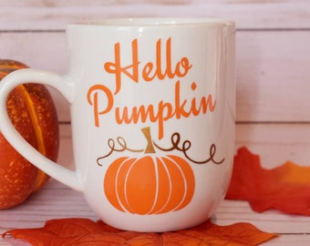 Hello Pumpkin Halloween Coffee Mug | Fall Mugs | Halloween Mugs | Pumpkin Mug | Cute Fall Mug | Halloween Decor | Fall Decor