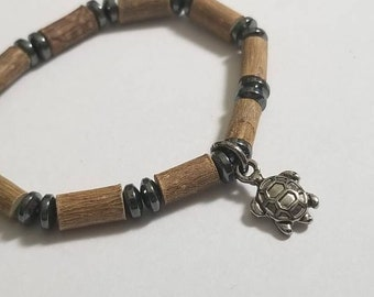 Pure Hazelwood Hematite Turtle Baby Anklet | Baby Ankle Bracelet | Baby Anklet | Infant Jewelry | Natural Teething Remedy | Baby Hazelwood