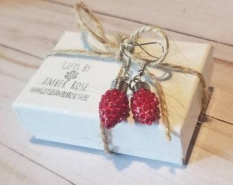 Red Christmas Lights Earrings | Christmas Light Jewelry | Festive Earrings | Christmas Party Jewelry | Holiday Earrings | Stocking Stuffer