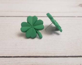 Green Shamrock Earrings | St Patrick's Day Earrings | Irish Pride | St Patty's Day | Shamrock Jewelry | Stud Earrings | Post Earring