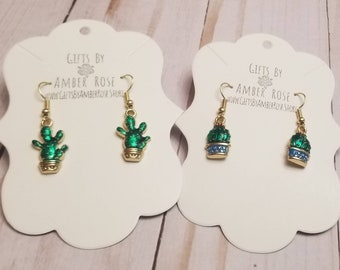 Green Succulent Earrings | Succulent Accessories | Succulent Jewelry | Cactus Jewelry | Cactus Accessory | Unique Jewelry | Stocking Stuffer