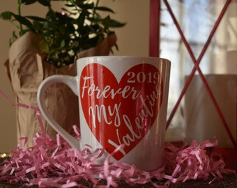 Personalized Year Valentine Mug | Valentines Gifts | Relationship Year | Custom Gifts | Valentines Decor