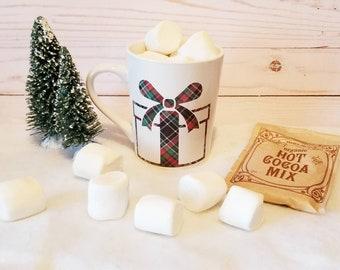 Plaid Christmas Present Mug | Christmas Mug | Coffee Mug | Christmas Gift | Teacher Gift | Gift Ideas | Present Mug | Christmas Plaid