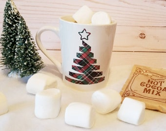 Plaid Christmas Tree Mug | Holiday Mug | Christmas Plaid | Christmas Mug | Coffee Mug | Coffee Gifts | Stocking Stuffer | Gift Ideas