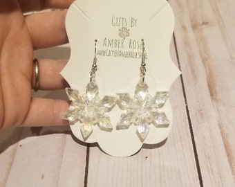 Crystal Clear Snowflake Earrings | Holiday Accessories | Snowflake Earrings | Pretty Snowflake Earrings | Christmas Jewelry | Party Jewelry