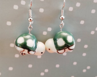 Turtle Earrings | Dangle Earrings | Cute Animals | Animal Earrings | Turtle Jewelry | Turtle Lover