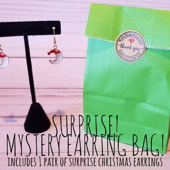 Surprise Christmas Earrings | Mystery Bag | Holiday Accessories | Holiday Earrings | Mystery Christmas Earrings | Christmas Jewelry