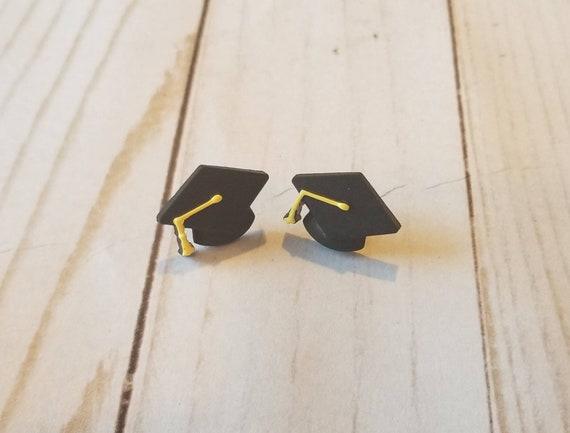 Graduation Cap Earrings   Celebration Earrings   Graduation Accessories   Graduation Gifts   Costume Jewelry   Cute Earrings