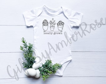 Locally Grown Baby Bodysuit | Unisex Baby Gifts | Bodysuit | Gender Neutral | New Baby Gift