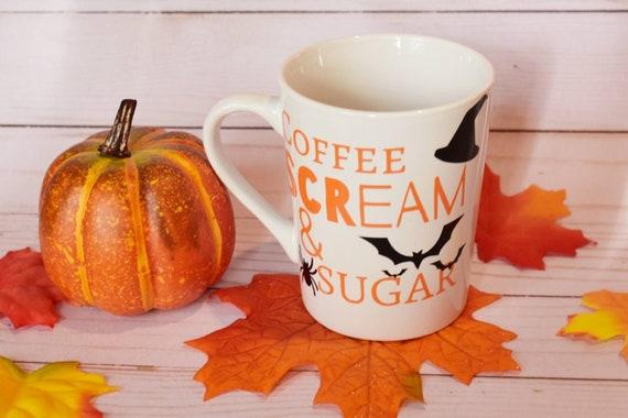 Coffee Scream & Sugar Halloween Mug | Coffee Mug | Fall Mug | Seasonal Mugs | Cute Halloween Drinkware | Fall Drinkware