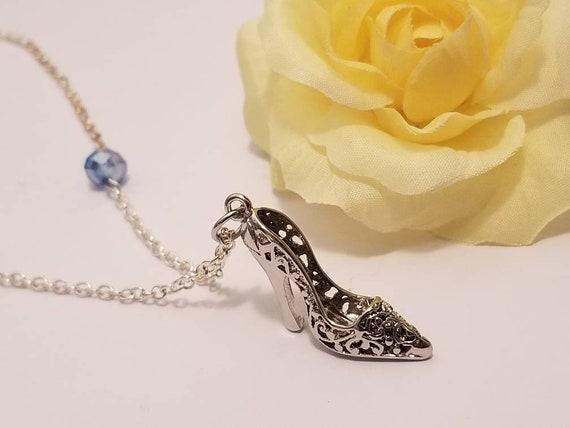 Cinderella Shoe Necklace | Cinderella Jewelry | Glass Slipper | Disney Jewelry