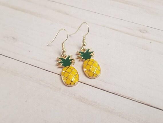 Pineapple Fruit Earrings | Summer Jewelry | Summer Accessories | Pineapple Accessories | Pineapple Jewelry | Fruit Accessories | Fruit Food