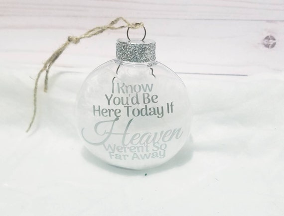 Angel Memorial Feather Ornament | I Know You'd Be Here Today If Heaven Werent So Far Away | Angel Wings Ornament | Memorial Ornament