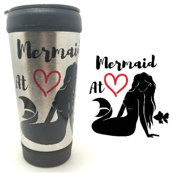 Mermaid at Heart Coffee Tumbler | Mermaid Tumbler | Mermaid Mug | Mermaid Coffee To Go Cup