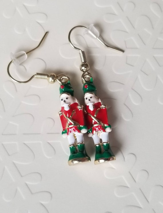 Little Nutcracker Earrings | Holiday Accessories | Christmas Jewelry | Festive Earrings