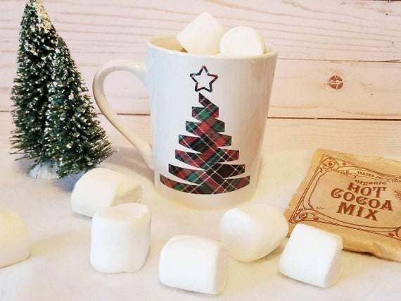 Plaid Christmas Tree Mug | Holiday Mug | Christmas Plaid | Christmas Mug | Coffee Mug | Coffee Gifts | Stocking Stuffer | Gift Ideas
