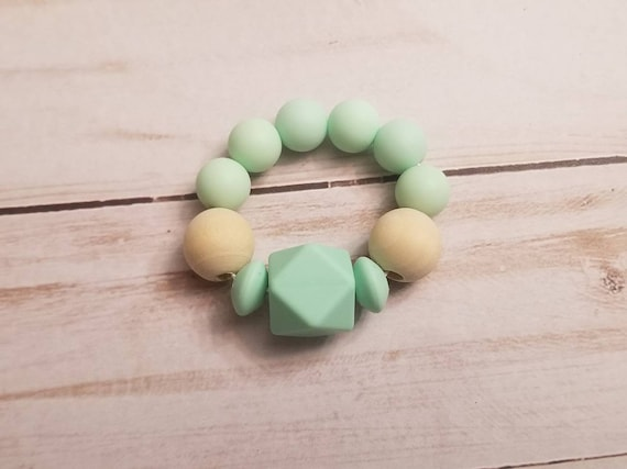 Seafoam Green Baby Teething Ring | Baby Teether | Teething Toys | Food Grade Silicone Teether | Baby Gifts | Baby Shower | Baby Accessories