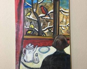 Recreated Breakfast of the Birds by Gabriele Münter