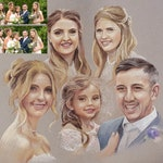 """16"""" x 24"""" 8-person pastel portrait (the image here is for illustration purposes onlY"""