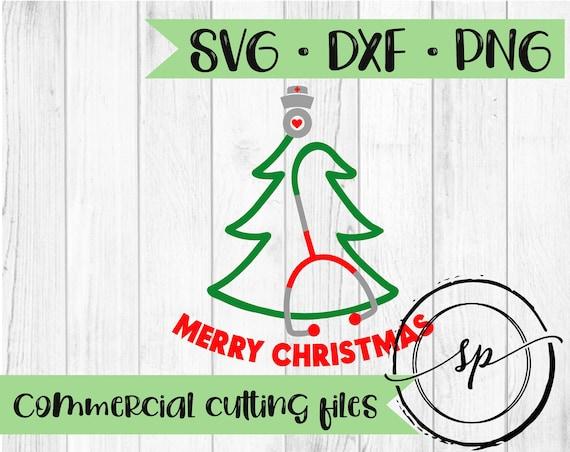 Nurse Christmas Svg.Stethoscope Christmas Tree Svg Christmas Svg Nurse Svg Dxf Png Svg Files For Silhouette And Cricut