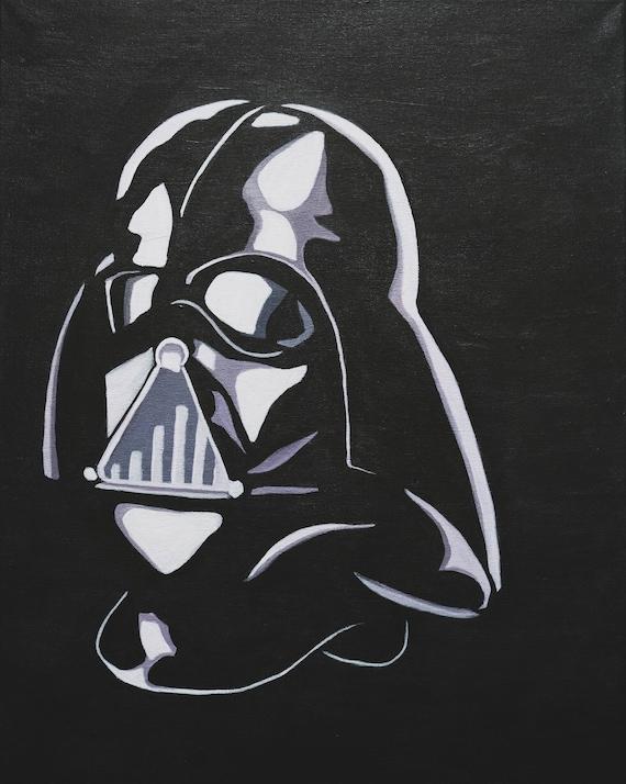 Portrait De Darth Vader Star Wars Noir Et Blanc Silhouette Portrait Figure Buste