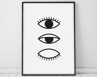 photograph relating to Printable Eye known as Eye print Etsy